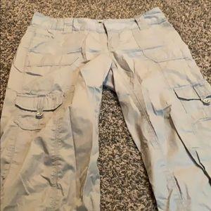 Express Pants - Express grey drawstring Capri size 4
